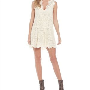 ✨NWT Free People heart in two ivory dress size XS